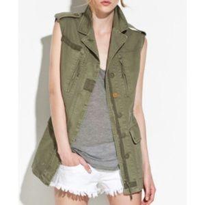 Zara army green utility/safari vest